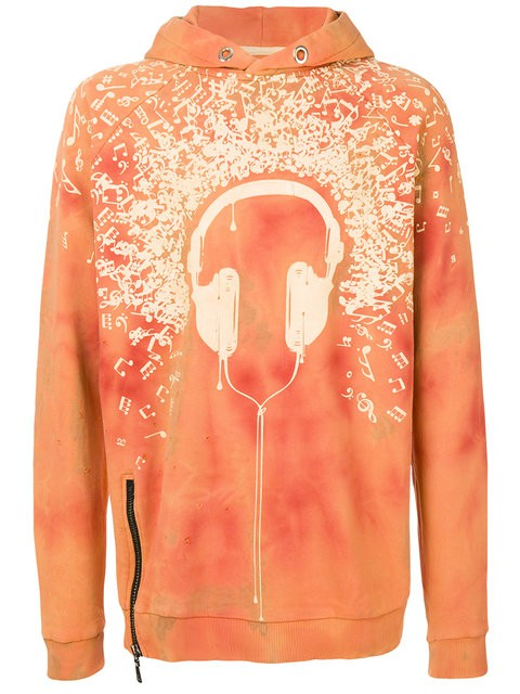 Classic Fit Hoody - Headphone & music notes
