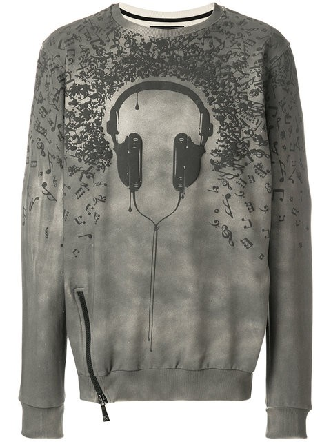 Classic Fit Sweater - Headphone & music notes
