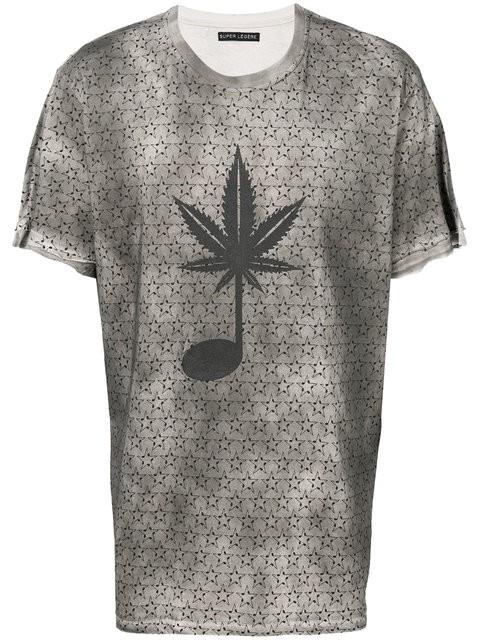 Classic Fit T-Shirt - Music Hemp Leaf